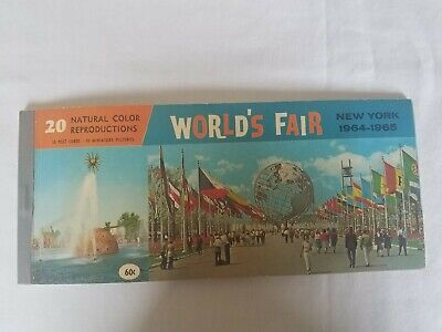 1 Book Worlds Fair Postcards 1964-1965....(Full never used)