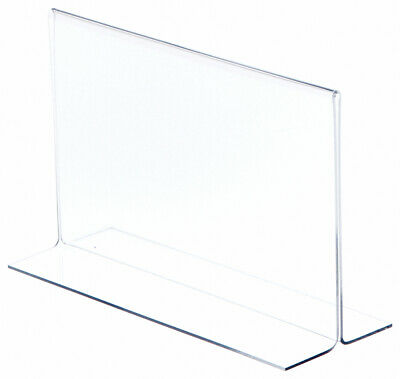 "Plymor Clear Acrylic Sign Display/Literature Holder (Bottom-Load), 8.5""W x 5.5""H"