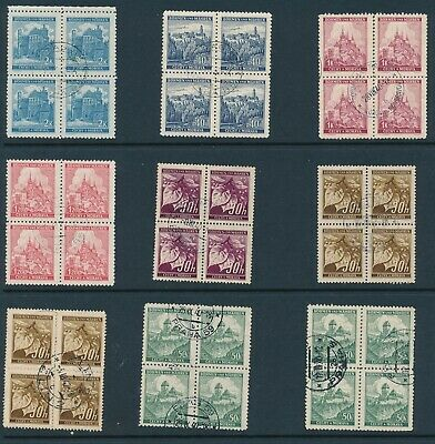 Lot Stamp Germany Bohemia Czech Blocks WWII 3rd Reich Occupation Collection CTO