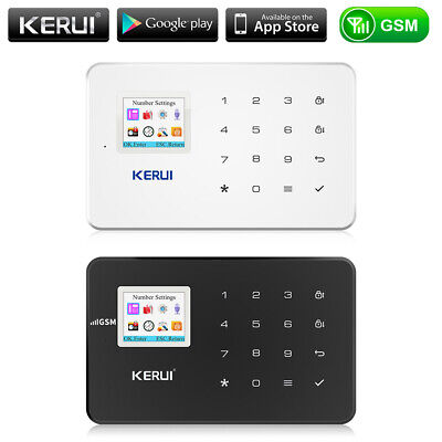 KERUI G18 GSM SMS Alarm Anti-theft Security Black and White Host System Kit