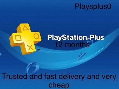 PS Plus Membership Subscription 12 Month PlayStation PSN PS4 - Sony - NO CODE