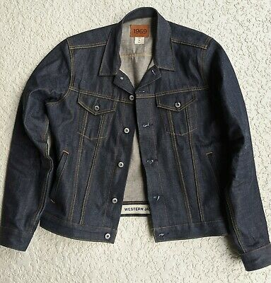 Gap Japanese Selvedge Denim Jean Jacket Size Large