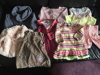 Bundle, Job Lot Of Baby Girl Clothes, 3-6 Months, Coats , Dresses, Leggings Etc