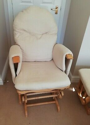 Nursing Glider maternity gliding rocking chair with footstool