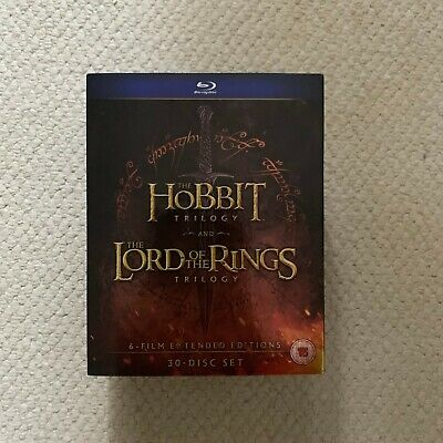 Hobbit Trilogy/The Lord of the Rings Trilogy: Extended Edition  (Blu-ray, 2016,
