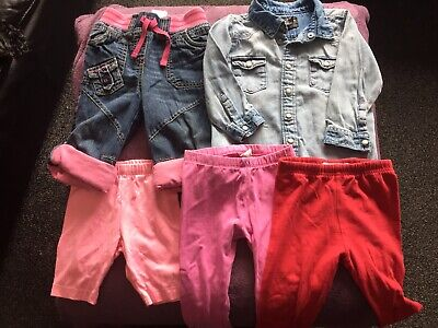 Bundle, Job Lot Of Baby Girls Clothes, 9-12 Months