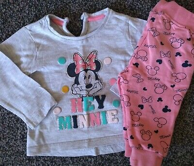 Baby Girls Lovely Disney Minnie Mouse Outfit 3-6 Months Excellent Condition
