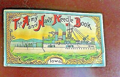 ~Vintage-'The Army and Navy Needle Book' Iowa ~Made in Japan~