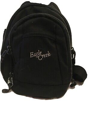 Eagle Creek 16 x 12 Black Cordura Zip Off Travel Day Back Pack Hide Away Straps