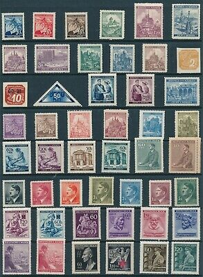 Lot Stamp Germany Bohemia Czech WWII 3rd Reich Occupation Collection MNG 2