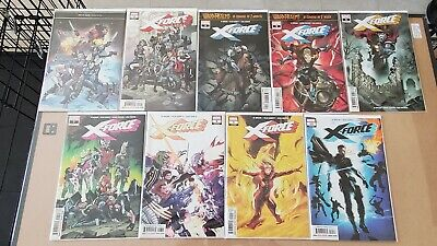 X-Force 1, 2, 4-10, Ed Brisson, Marvel Comics, VF/NM