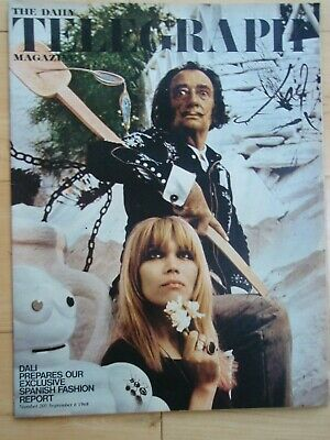 Daily Telegraph Magazine 6 September 1968 SALVADOR DALI fashions etc
