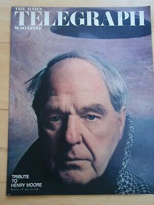 Daily Telegraph Magazine 12 JULY 1968 HENRY MOORE feature & cover