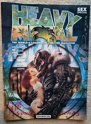 Heavy Metal 2016 Magazine #281 Royo Cover Sex Special Signed by Luis Royo