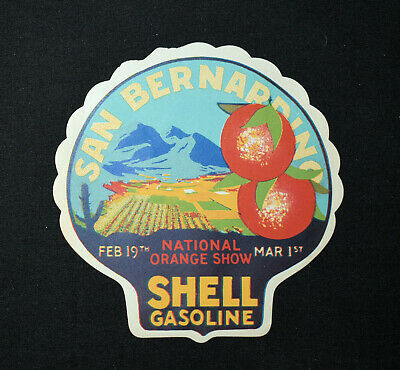 12. Shell California Gasoline Travel Decal Help Prevent Forest Fires 1930'S