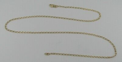 """14k Yellow Gold 20"""" Chain Link Necklace - 3.77 Grams"""