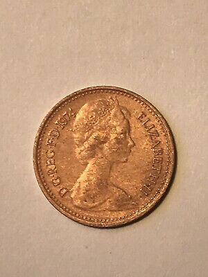 1974 Half Penny coin, Good Condition.