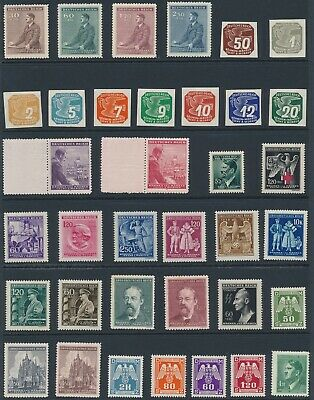Lot Stamp Germany Bohemia Czech WWII 3rd Reich Hitler Officials Collection MNH