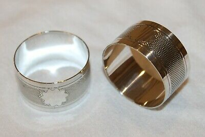 2 x Beautiful Vintage Silver Plated Napkin Rings / Holders Excellent Condition