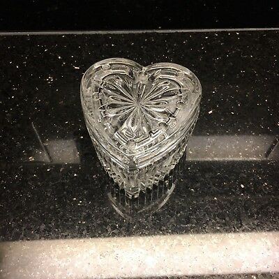 Crystal Heart Trinket Box Decor Decorative Collectible