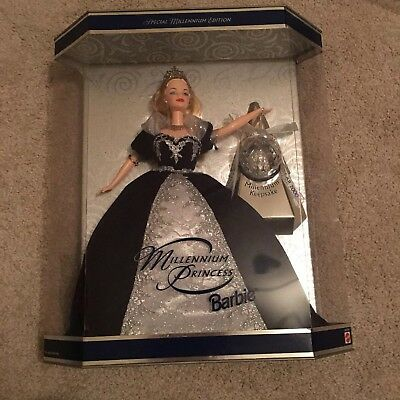 Mattel Barbie Doll Millennium Princess (for Year 2000) 1999 Blond