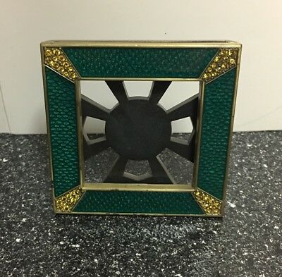 Small Decorative Jay Strongwater Green Enamel / Rhinestone Picture Photo Frame