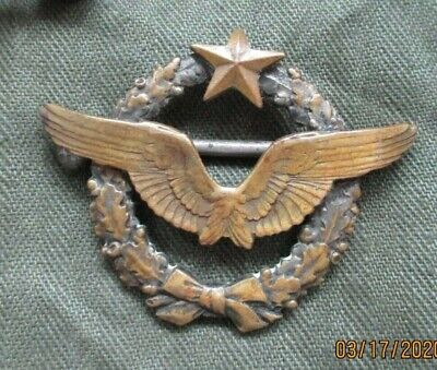 Vintage Post WW2 French Pilots badge wings numbered
