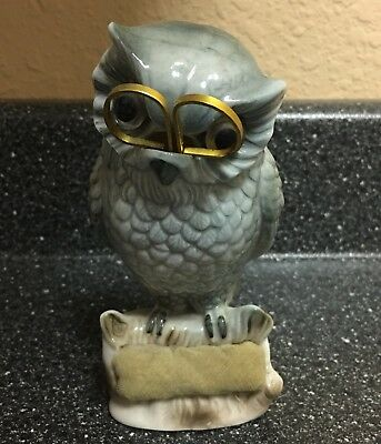 Vintage Verithin Arualt Owl With Scissors Pincushion Decorative Collectible
