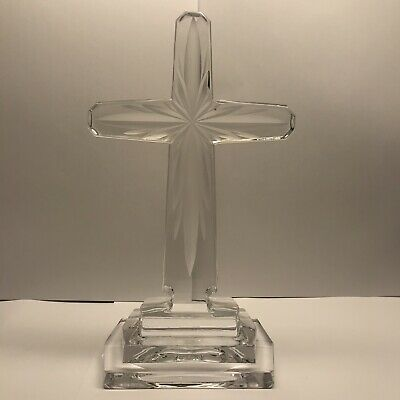 Large Towel Standing Altar Cross Crystal Decoration