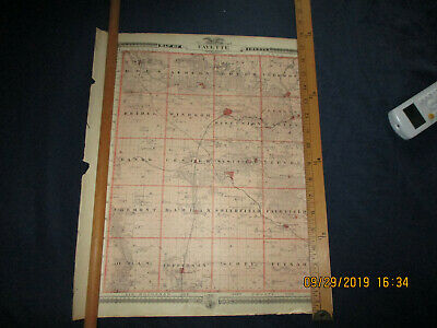 Fayette County and Iowa cities  Reversable Iowa  Plat Map  Chas. Shober & Co