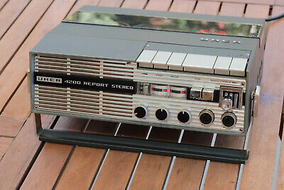 Uher 4200 Stereo Report tape machine working (see description) + Accumulator