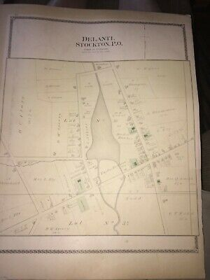 1881 Map Of Town Of Stockton. From The Historical Atlas Of Chautauqa County, Ny