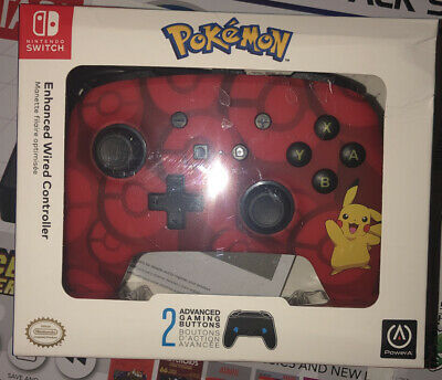 Nintendo Switch PowerA Pokemon Enhanced Wired Controller Pikachu 1513777-01
