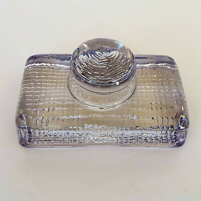 Unusual Antique Glass Paper Weight /  Hand Stamp