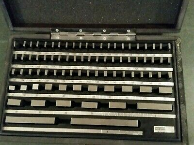 Starrett 81 pc set Working Standards mod number RS81B