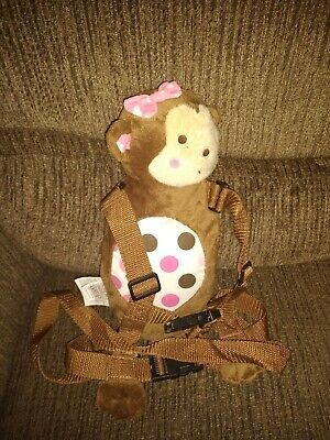 Child of Mine Female Girl Monkey Toddler Harness Safety Leash Plush  Brown