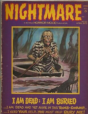 NIGHTMARE #12 April 1973 VG SKYWALD Horror-Mood Swamp Issue!!!