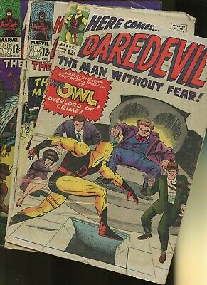 Daredevil 3,9,10 * 3 Book Lot * Marvel Comics! Man without Fear! Vol.1,The Owl!