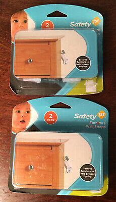 New & Sealed * Lot Of 2 Safety 1St Furniture Wall Straps * 4 Total
