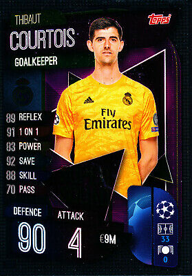 Topps Match Attax Champions League Karte Nr 38 Thibaut Courtois Real Madrid CF