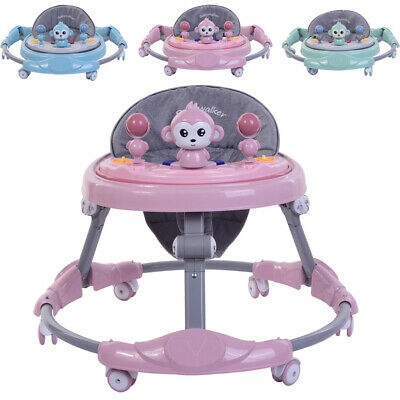 NEW Foldable Kids Baby Walker First Step Push Along Bouncer Activity Ride On Car