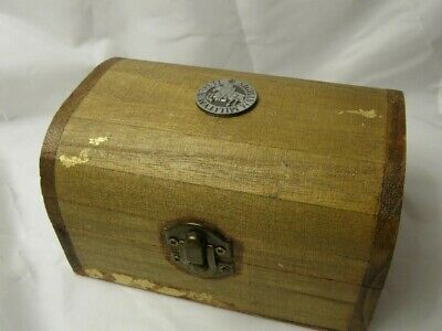 Knight Templar Wooden Chest. Crusader. Knight. Templar Seal. Jewel/Keepsake