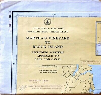 Folding  Old Map Of Marthas Vineyard And Rode Island Navigation 2 Maps