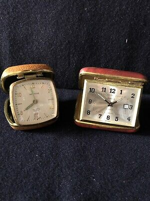 Two Vintage German Made Travel Alarm Clocks Newsrk And Euopa Makes. Working .