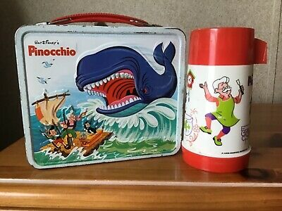Vintage Pinocchio Lunchbox And Thermos