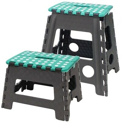 Set of Small & Large Folding Step Stool Multi Purpose Heavy Duty Home Kitchen