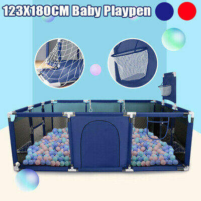 Baby Fence Play Yard Infants Folding Safety Barrier 48*71*24 in Tent Playpen