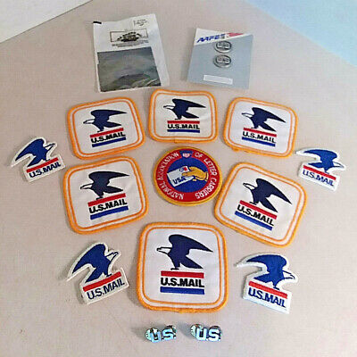 Vintage Lot Of 17 U.s. Mail Postal Service Patches And Pins - Very Nice!!!