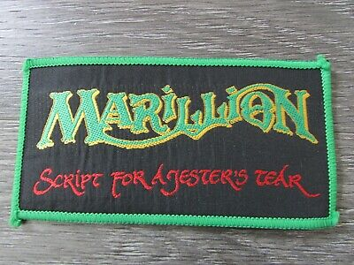 Marillion Script for a Jesters Tear 1980's Metal Rock Band Sew on Badge / Patch