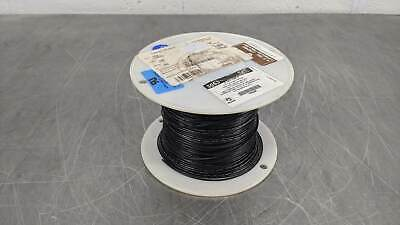 1000 Foot Spool of AlphaWire 3053 20 AWG 300V Black Cable